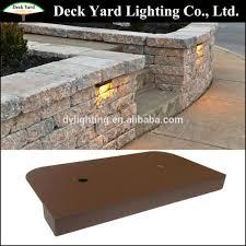 retaining wall lights under cap under cap retaining wall landscape light kits brick stone 12v led