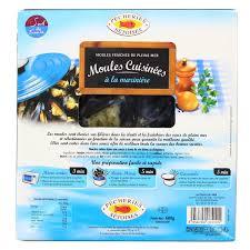 moules cuisin馥s pêcheries sétoises moules cuisinées à la marinière 600g houra fr