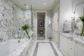 white marble bathroom inspiration for a contemporary white tile