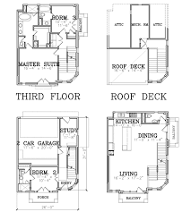 3 story townhouse floor plans 3 story townhouse floorpan with roof deck