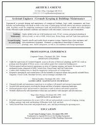 Landscaping Resume Samples by Maintenance Tech Resume Sample Free Resume Example And Writing
