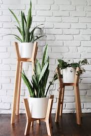 Clean White Modern Bedrooms Loving These Wood And White Modern Plant Stands Nice Designs