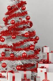 white tree with ornaments pictures photos and