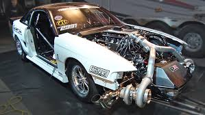 custom toyota supra twin turbo tt mustang runs 209 mph in eighth mile dragtimes com drag racing