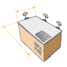 taille plan de travail cuisine home inox plan de travail ilot central sur mesure