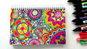 draw a colourful zen pattern time lapse youtube