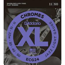 light electric guitar strings d addario xl chromes jazz light electric guitar strings ecg24