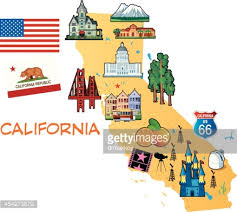 map of california map of california vector getty images