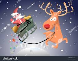 santa claus rudolph stock illustration 2023161 shutterstock