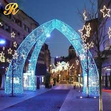 Outdoor lighted LED arch Christmas decorations View christmas