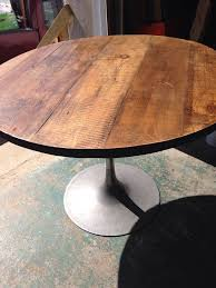 Reclaimed Wood Bistro Table Best 25 Round Industrial Coffee Table Ideas On Pinterest