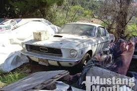 mustang salvage yard 1968 ford mustang cobra jet mustang monthly magazine