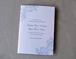 bi fold wedding program vintage lace design bi fold 5x7 folded wedding programs lace