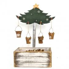 the aisle artificial tree stand with 24 rustic buckets