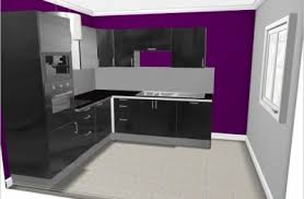 cuisine mur aubergine cuisine de notrepetitcheznous89
