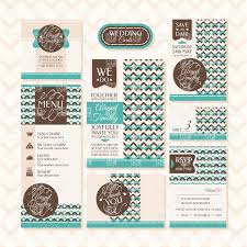 Invitation With Rsvp Card Set Of Wedding Invitations Thank You Cards And Rsvp Cards Vector