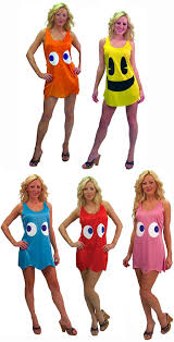 amazon com pac man deluxe tank dress group costume teen