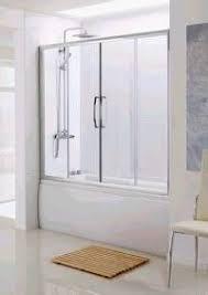 over bath semi frameless double slider shower door lakes classic