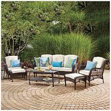 Resin Wicker Outdoor Patio Furniture by Wilson U0026 Fisher Barcelona 6 Piece Resin Wicker Outdoor Sofa Set