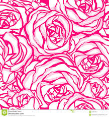 seamless pattern with flowers roses floral illustration stock