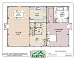 2 Story Open Floor Plans by Shining Center Hall Colonial Open Floor Plans 3 Open Concept Floor