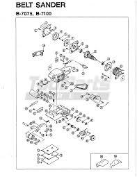 ryobi b7075 belt sander parts tool parts direct