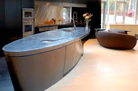 oval kitchen island 14 concrete countertops that prove this material suits any decor