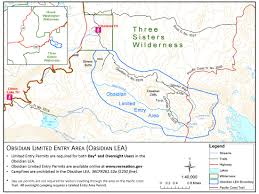 Three Sisters Springs Map Obsidian Limited Entry Area Ore Pacific Crest Trail Association
