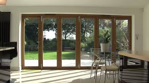 Wooden Bifold Patio Doors Decorating Extraordinary Large Wooden Glass Frame Folding Patio