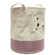 Round Laundry Hamper by Linen Foldable Round Laundry Hamper Bags Clothes Washing Basket