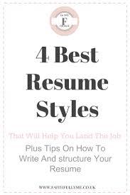 Resume Style Resume Resume Styles