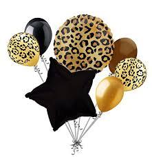cheetah print party supplies 7 pc cheetah print balloon bouquet happy birthday