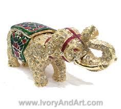 elephant menorah trinket box big elephant ivory and