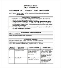 doc 410319 free daily lesson plan template u2013 daily template 1