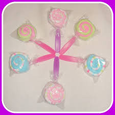 6 washcloth lollipops great baby shower gift 152689295241