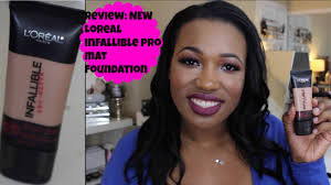 Sho Loreal loreal infallible pro mat foundation review demo