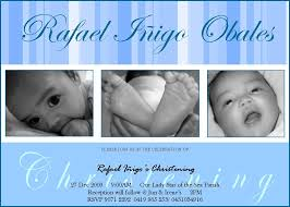 Baptismal Invitation Card Design Philippine Baptismal Invitation Design With 3 Photo Frame And Blue