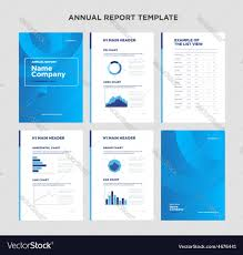 Report Cover Page Templates by Modern Annual Report Template With Cover Design Vector Image