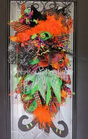 Halloween Door Wreath by Halloween Wreath Fall Wreath Whimsical Wreath Halloween Decor