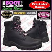 s steel cap boots nz oliver work boots 49445z s black leather zip side steel