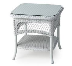 Lloyd Flanders Wicker Furniture Wicker End Tables Collection