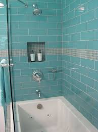 bathroom bright shower tiles ideas with teal modern ceramic wall