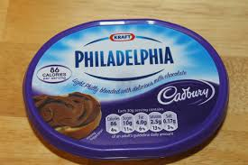 philadelphia light cream cheese spread tea time product review kraft cadbury milk chocolate philadelphia
