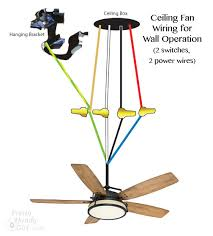 how to wire a ceiling fan with 2 switches how to install a ceiling fan ceiling fan ceilings and fans