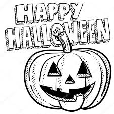 happy halloween vector happy halloween pumpkin sketch u2014 stock vector lhfgraphics 13883948