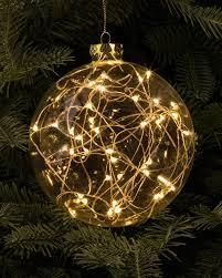 set of 3 led light ornaments balsam hill