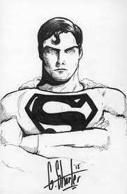 superman sketch by grantshorterart on deviantart