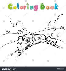train coloring page cartoon vector stock vector 293022278