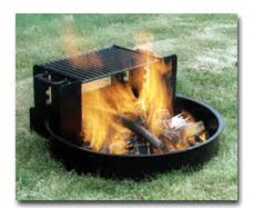 Fire Pit Ring With Grill by Adjustable Grate Fire Pit Ring 31 Inch Diam X 9 Inch H Rv Park