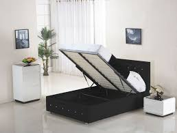 Ottoman Storage Beds Uk by Black Leather Ottoman Double Bed This Item Storage Bed Faux